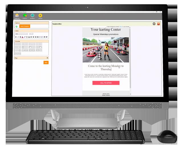 Emailing software karting
