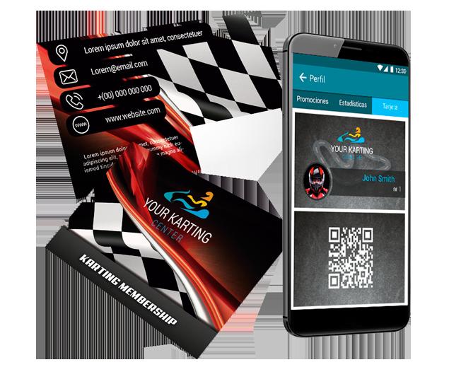 Tarjeta socio para Karting
