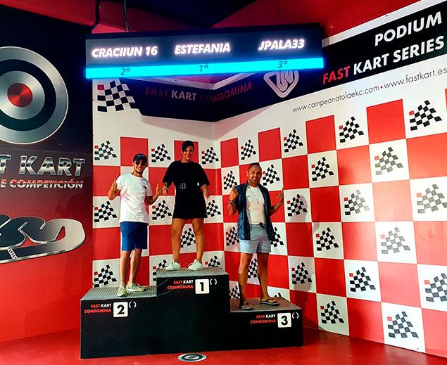 Podium digital para karting